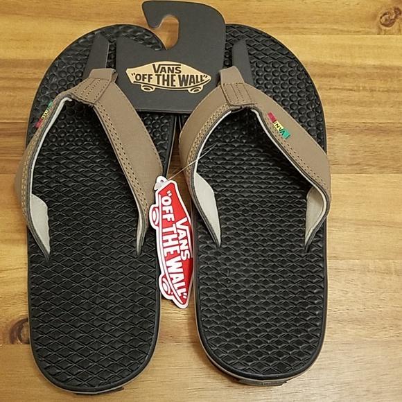 de37139718 Van s rasta mens sandals flip flop size 8